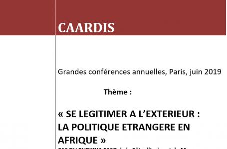 Grandes conférences annuelles, Paris, juin 2019
